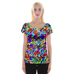 Artwork By Patrick Colorful 40 Cap Sleeve Tops