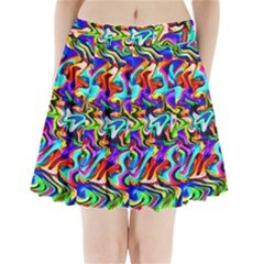 Artwork By Patrick Colorful 40 Pleated Mini Skirt