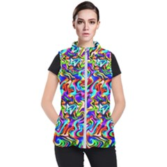 Artwork By Patrick Colorful 40 Women s Puffer Vest