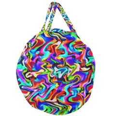 Artwork By Patrick Colorful 40 Giant Round Zipper Tote