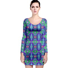 Artwork By Patrick Colorful 41 Long Sleeve Bodycon Dress
