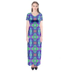 Artwork By Patrick Colorful 41 Short Sleeve Maxi Dress