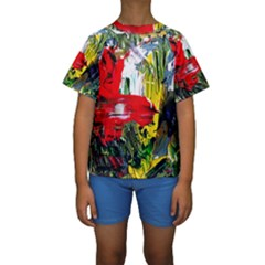 Bow Of Scorpio Before A Butterfly 2 Kids  Short Sleeve Swimwear