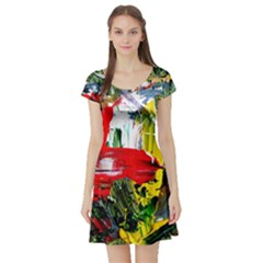 Bow Of Scorpio Before A Butterfly 2 Short Sleeve Skater Dress