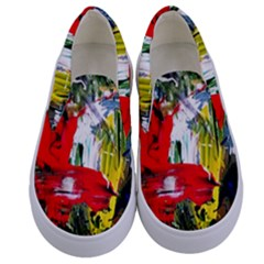Bow Of Scorpio Before A Butterfly 2 Kids  Canvas Slip Ons