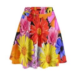 Assorted Petals High Waist Skirt