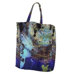 Blue Options 3 Giant Grocery Zipper Tote