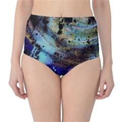 Blue Options 3 Classic High Waist Bikini Bottoms