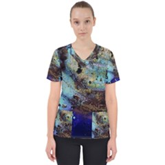 Blue Options 3 Scrub Top