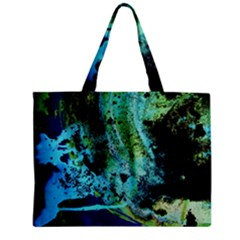 Blue Options 6 Zipper Mini Tote Bag