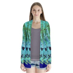 Blue Options 6 Drape Collar Cardigan