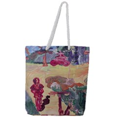 Trail Full Print Rope Handle Tote (large) by bestdesignintheworld