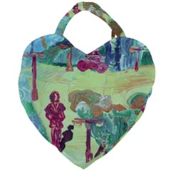 Trail 1 Giant Heart Shaped Tote by bestdesignintheworld