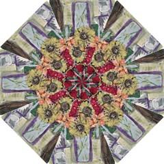 Sunflowers And Lamp Hook Handle Umbrellas (large) by bestdesignintheworld