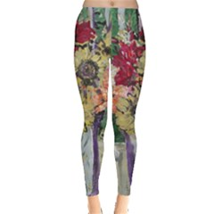 Sunflowers And Lamp Leggings