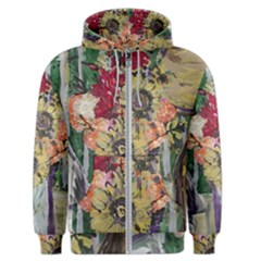 Sunflowers And Lamp Men s Zipper Hoodie