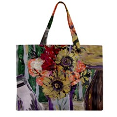 Sunflowers And Lamp Zipper Mini Tote Bag