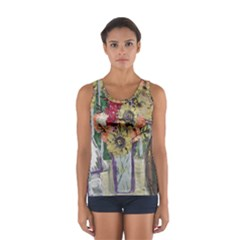 Sunflowers And Lamp Sport Tank Top