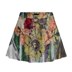 Sunflowers And Lamp Mini Flare Skirt