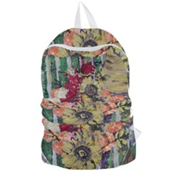 Sunflowers And Lamp Foldable Lightweight Backpack