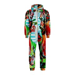 Dry Flowers On Your Windows Hooded Jumpsuit (kids)