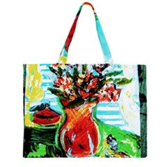 Dry Flowers On Your Windows Zipper Large Tote Bag