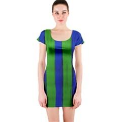 Stripes Short Sleeve Bodycon Dress