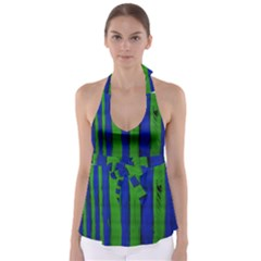 Stripes Babydoll Tankini Top