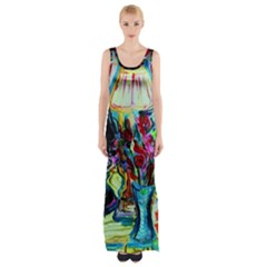 Still Life With Two Lamps Maxi Thigh Split Dress