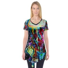Still Life With Two Lamps Short Sleeve Tunic