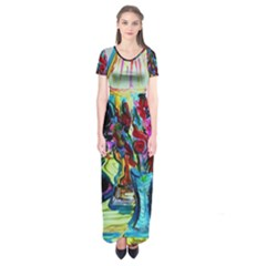 Still Life With Two Lamps Short Sleeve Maxi Dress