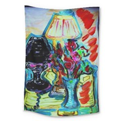 Still Life With Two Lamps Large Tapestry