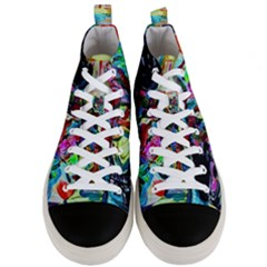 Still Life With Two Lamps Men s Mid Top Canvas Sneakers