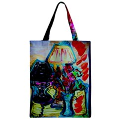 Still Life With Two Lamps Zipper Classic Tote Bag