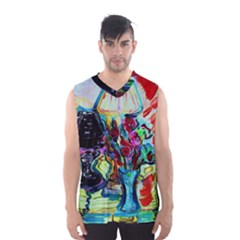 Still Life With Two Lamps Men s Basketball Tank Top