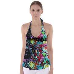 Still Life With Two Lamps Babydoll Tankini Top