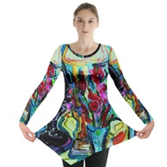 Still Life With Two Lamps Long Sleeve Tunic