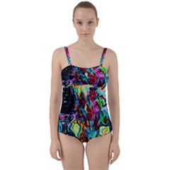 Still Life With Two Lamps Twist Front Tankini Set