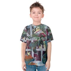 Still Life With Tangerines And Pine Brunch Kids  Cotton Tee