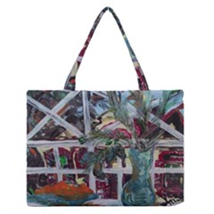 Still Life With Tangerines And Pine Brunch Zipper Medium Tote Bag