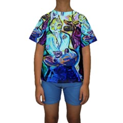 Old Light And New Light Kids  Short Sleeve Swimwear