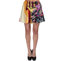 Still Life With Lamps And Flowers Skater Skirt by bestdesignintheworld