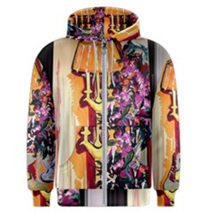 Still Life With Lamps And Flowers Men s Zipper Hoodie