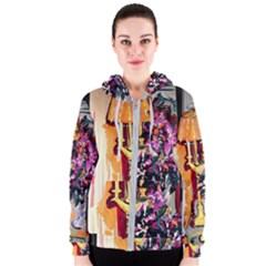 Still Life With Lamps And Flowers Women s Zipper Hoodie