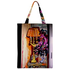 Still Life With Lamps And Flowers Zipper Classic Tote Bag