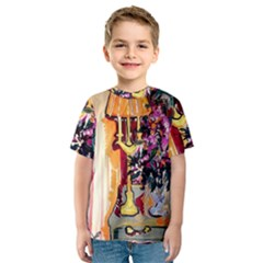 Still Life With Lamps And Flowers Kids  Sport Mesh Tee