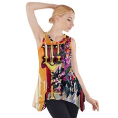 Still Life With Lamps And Flowers Side Drop Tank Tunic