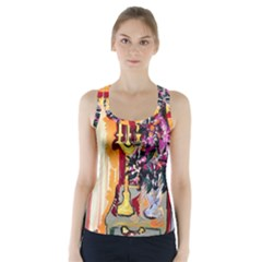 Still Life With Lamps And Flowers Racer Back Sports Top