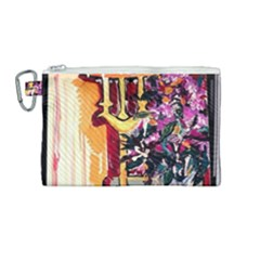 Still Life With Lamps And Flowers Canvas Cosmetic Bag (medium)