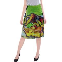 Still Life With A Pigy Bank Midi Beach Skirt